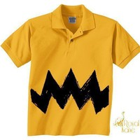 Medium Retro NEW Charlie Yellow Zig Zag kids boys by Royalkane