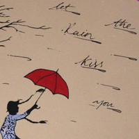Langstons Umbrella Original silkscreen print by Champignons
