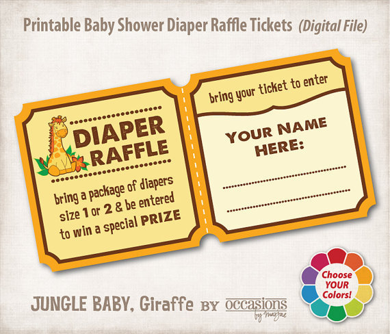baby shower diaper raffle tickets digital from occasionsbymarjae