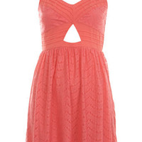 Petites Coral Lace Dress - Dresses  - Apparel  - Miss Selfridge US