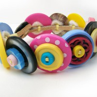 Button Bracelet- Don't Be Mean, Jellybean | Luulla