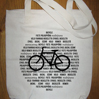 Bike Bag Bicycle in International Languages by redbrickwall