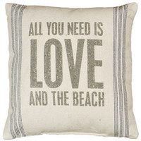 And The Beach Linen Pillow | OceanStyles.com