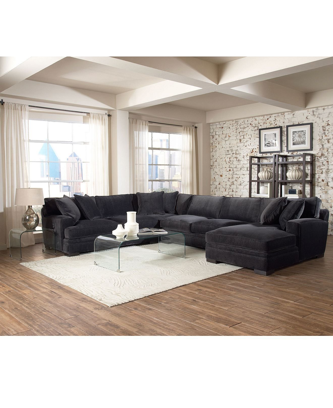 Www Macyfurniture: Teddy Fabric Sectional Living Room From Macys