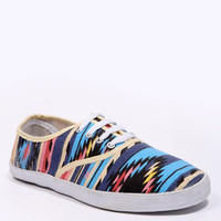 BDG Bright Geo Print Plimsolls