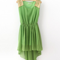 u Nice High-Low Chiffon Dress