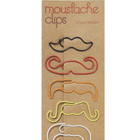 Moustache Paperclips at Accessorize
