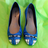 Doctor Who- TARDIS Glitter Shoes