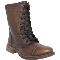 Chimney Bronze Tone Combat Boot | Hot Topic
