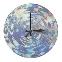 WATER Element Ripple Pattern Wall Clock