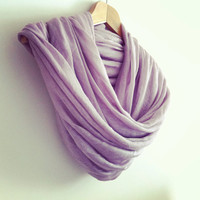 Cotton Scarf  Light Lilac Scarf  Turkish by AnatolianAccessories