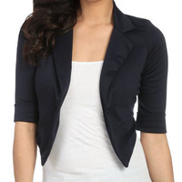 Color Cuff Sleeve Blazer - Teen Clothing by Wet Seal