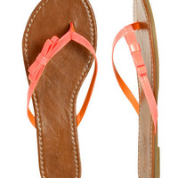 Side Bow Flip Flop - Teen Clothing by Wet Seal