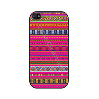 PINK AZTEC Rubber iPhone Case iPhone 4 iPhone 4 case by caseOrama
