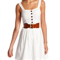Charlotte Russe - Textured Cotton A-Line Dress