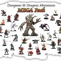 25 Assorted Dd Dungeons and Dragons Miniatures Figures