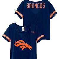 Denver Broncos Cropped V-Neck Athletic Tee - PINK - Victoria's Secret