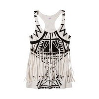 Product: Xhilaration® Juniors Fringe Top - Assorted Prints