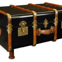 One Kings Lane - The Dapper Den - Stateroom Trunk, Black