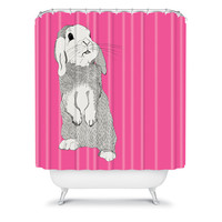 DENY Designs Home Accessories | Casey Rogers Rabbit Shower Curtain