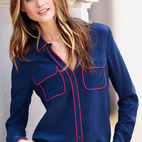 Silk Button-front Shirt - Victoria's Secret