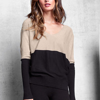 Double V-neck Sweater - A Kiss of Cashmere - Victoria's Secret