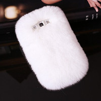 New Arrival White Fur Galaxy S3 Case Cover for by Bearcatsales