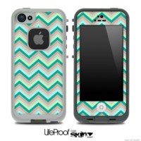 Subtle Greens Chevron Pattern for the iPhone 5 or 4/4s LifeProof Case - iPhone