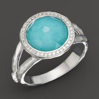 IPPOLITA Sterling Silver Stella Mini Lollipop Ring in Turquoise Doublet with Diamonds | Bloomingdale's