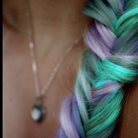 Coloured fishtail braid