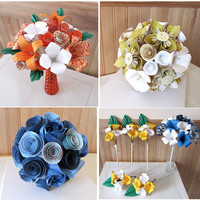 Custom Origami Wedding Bouquet by LeahRHood on Etsy