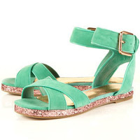 FRENCHIE Glitter Sole Sandals - Topshop