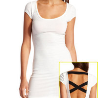 Charlotte Russe - Cross-Back Body-Con Dress