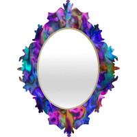DENY Designs Home Accessories | Lisa Argyropoulos Colour Aquatica Berry Blue Baroque Mirror
