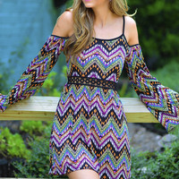 The Arrowhead Dress: Black/Multi | Hope's