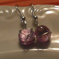 Earrings : Small Pink Starr Eyes | KeakiDesigns - Jewelry on ArtFire