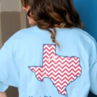 God Bless Texas Chevron T-shirt
