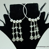 White Dangled Stars Earrings | KeakiDesigns - Jewelry on ArtFire