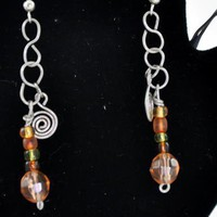 Spiral bead drops Earrings | KeakiDesigns - Jewelry on ArtFire