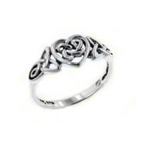 Amazon.com: Sterling Silver Celtic Trinity Knot Heart Ring Size 6(Sizes 3,4,5,6,7,8,9,10,11,12,13,14,15): Jewelry