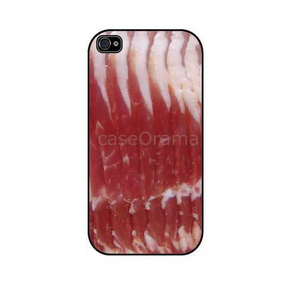 BACON STRIPS Rubber iPhone Case iPhone 4 iPhone4 case by caseOrama