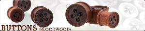 Buttons (Bloodwood) | Organic body jewelry | Wooden ear plugs | Ear plug