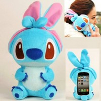 Authentic iPlush Plush Toy Cell Phone Case for iPhone 4 / 4S - Company Direct Sell 100 Percent Authentic (Blue Stitch):Amazon:Cell Phones & Accessories