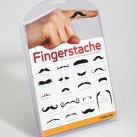 fredflare.com |  fingerstache temporary tattoos