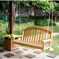 Three Birds Casual Victoria Garden Swing - 4', Premium Teak - Save 27%