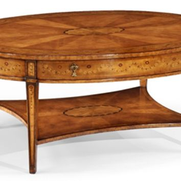 Coffee tables high end furniture oval from for High end coffee table