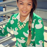 Rubber Ducky Sweater (Green)