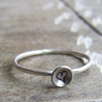 Tiny Heart Love Ring for Valentine&#x27;s Day by tinahdee on Etsy