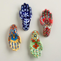 Painted Ceramic Hands, Set of 4 - World Market