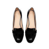 PATENT LEATHER SLIP - ON SHOES - Flat shoes - Shoes - TRF | ZARA United States